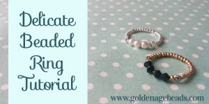 How to Make an Easy Delicate Beaded Ring