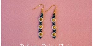 Tutorial: Daisy Chain Beaded Earrings