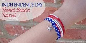DIY Independence Day Themed Bracelet Tutorial