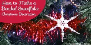Beaded Snowflake Christmas Decoration Tutorial