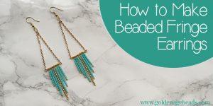 Beaded Fringe Earrings Tutorial