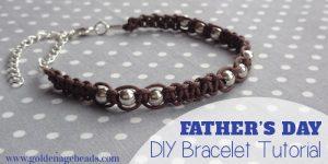 Men's Leather Cord Macramé Bracelet – Father's Day Project