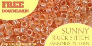 Sunny Brick Stitch Earrings Pattern
