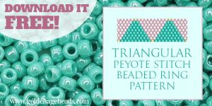 Free Beadweaving Pattern for a Peyote Stitch Ring