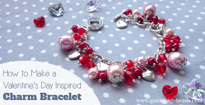 diy beaded charm bracelet project for valentines day - Valentines Day Bracelet