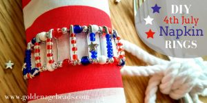 DIY Craft Project: 4th of July Safety Pin Napkin Ring
