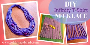 DIY Infinity T-shirt Necklace