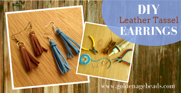 a4e2b7779c8a86 DIY Leather Tassel Earrings. Little leather tassels are super cute and they  can be used for so many different things. They look awesome embellishing  shoes ...