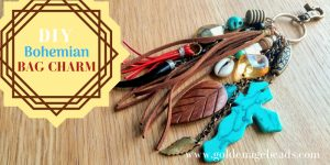 Upcycling Idea: Make a Bohemian Bag Charm with Leftover Beads
