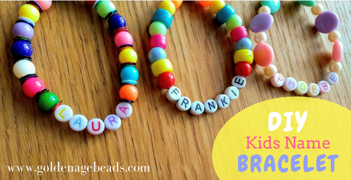 Kid S Name Bracelet Project Golden Age Beads