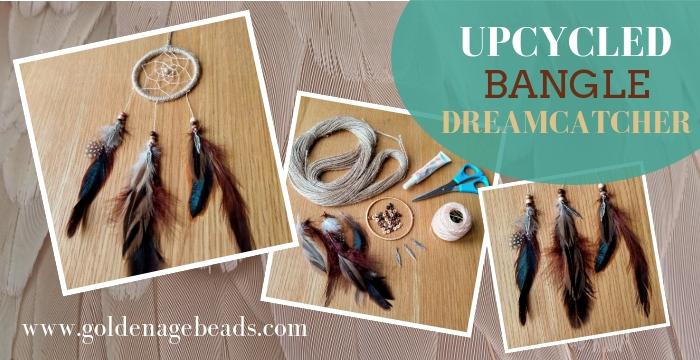 e9678d07c91c03 DIY Upcycled Bangle Dreamcatcher | Golden Age Beads