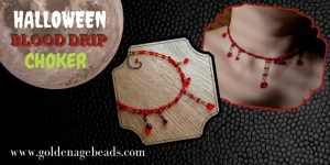 DIY Halloween Blood Drip Choker