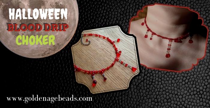 2b5f16bb1a73b DIY Halloween Blood Drip Choker | Golden Age Beads