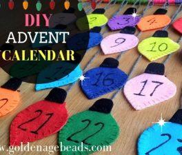 DIY Colorful Lights Advent Calendar