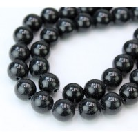 Black Mountain Jade Beads, 10mm Round