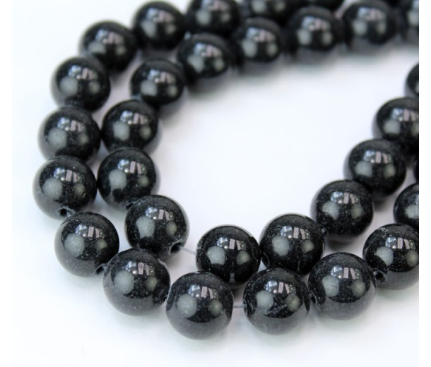 Anthracite Mountain Jade Beads, 10mm Round