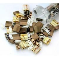 5mm Miyuki Tila Bead Shape Mix, Pebbles, 7.2 Gram Tube