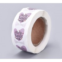 Decorative Stickers, Pretty Things Inside, 25mm Diameter, Roll of 500 Pcs