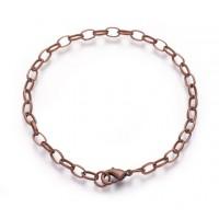 8 inch Cable Chain Bracelet, Antique Copper