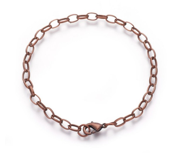 8 inch Cable Chain Bracelet, Antique Copper