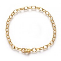 8 inch Cable Chain Bracelet, Gold Tone