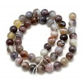 Botswana Agate Beads, Natural, 6mm Round