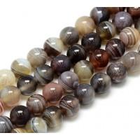 Botswana Agate Beads, Natural, 6mm Round