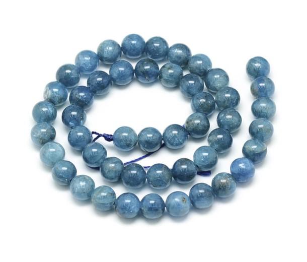 Apatite Beads, Natural, Dark Teal Blue, 6mm Round