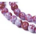Purple and Dark Red Multicolor Jade Beads, 8mm Round