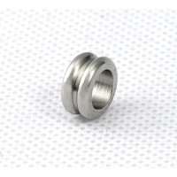 10mm Grooved Spacer Beads, Stainless Steel, Pack of 10