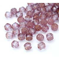 Crystal Picasso Czech Glass Beads, 8mm Renaissance, Pack of 25