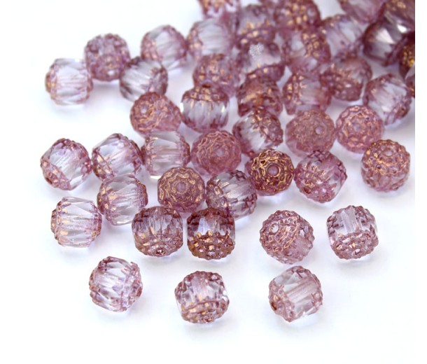 Crystal Picasso Czech Glass Beads, 6mm Renaissance, Pack of 25