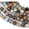 Botswana Agate Beads, Natural, 8mm Round