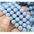 Angelite Beads, Natural Pastel Blue, 8mm Round