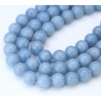 Angelite Beads, Natural Pastel Blue, 8mm Round