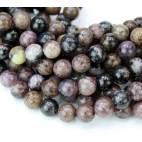 -Charoite Beads, Natural, 8mm Round