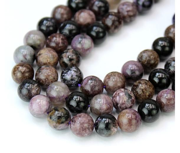 Charoite Beads, Natural, 8mm Round