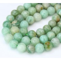 Kyanite Beads, Natural Light Green, 8mm Round