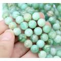 Kyanite Beads, Natural Light Green, 8mm Round