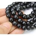 Shungite Beads, Natural, 8mm Round