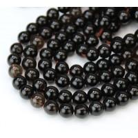 Smoky Quartz Beads, Natural, 6mm Smooth Round