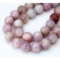 Kunzite Beads, Natural Pale Purple, 10mm Round