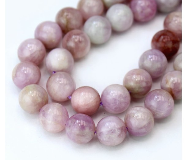 Kunzite Beads, Natural Pale Purple, 8mm Round