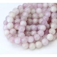 Kunzite Beads, Natural Pale Purple, 6mm Round