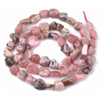 Rhodochrosite Beads, Small Tumbled Nugget
