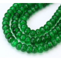 -Grass Green Candy Jade Beads, 8x5mm Faceted Rondelle