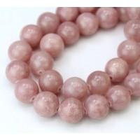 -Rose Brown Mountain Jade Beads, 10mm Round