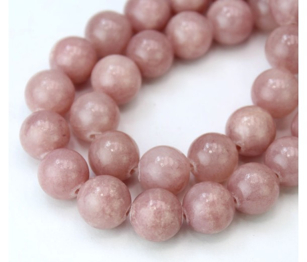 Rose Brown Mountain Jade Beads, 10mm Round