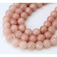 -Rose Brown Mountain Jade Beads, 8mm Round