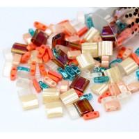 5mm Miyuki Tila Bead Shape Mix, Island Hopper, 7.2 Gram Tube